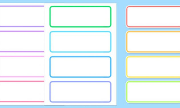 Free! – Editable Labels – Classroom Label Template Inside Free Name Label Templates