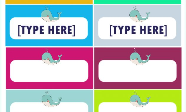 Free Label Templates For Back To School: Really Cute Designs! In Free Name Label Templates
