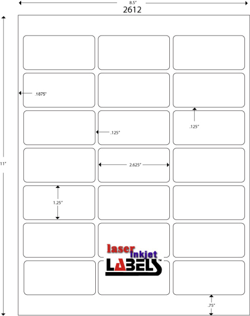 Free Label Templates For Downloading And Printing Labels throughout 1 X 2 5 8 Label Template