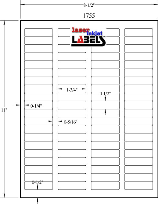 Free Label Templates For Downloading And Printing Labels With Regard To 1 X 2 5 8 Label Template