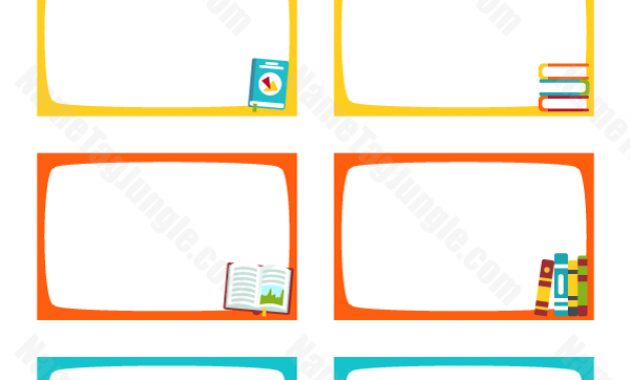 Free Printable Book Name Tags. The Template Can Also Be Used Throughout Free Name Label Templates