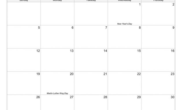 Free Printable Calendars – Calendarsquick within Full Page Blank Calendar Template