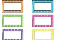 Free Printable Name Tags For Cubbies | Printable Name Tags within Free Name Label Templates
