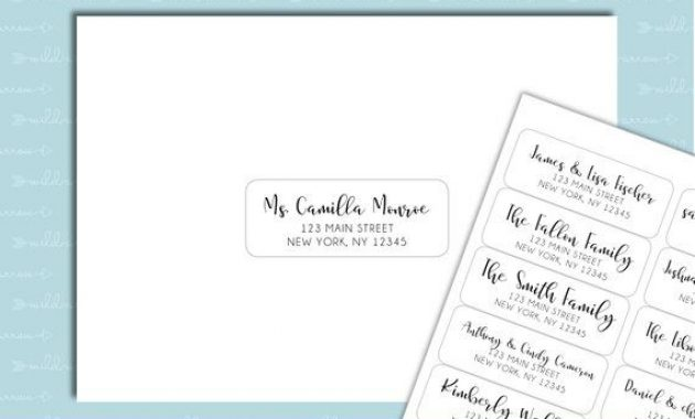 "Guest List Address Labels – 1""x2 5/8"" – Wedding Invitations Inside 1 X 2 5 8 Label Template"