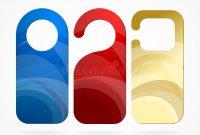 Hotel Door Labels Set. Vector Stock Vector – Illustration Of intended for Door Label Template