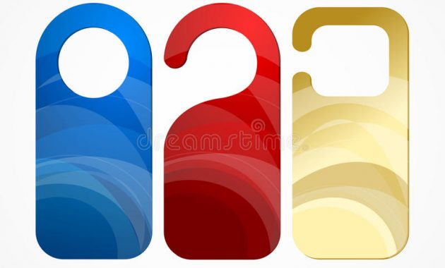 Hotel Door Labels Set. Vector Stock Vector – Illustration Of Intended For Door Label Template