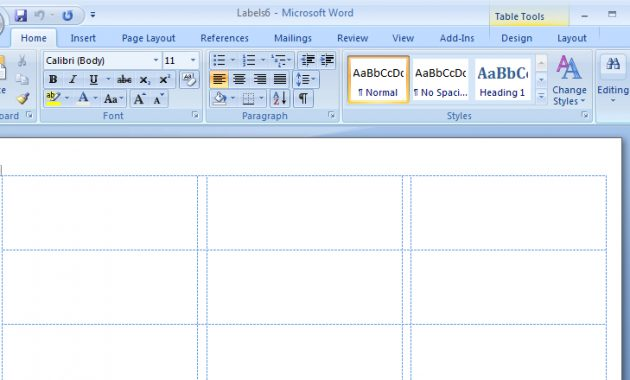 How To Create Mailing Labels In Word Pertaining To Microsoft Word Sticker Label Template