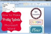 How To Make Pretty Labels In Microsoft Word within Microsoft Word Sticker Label Template