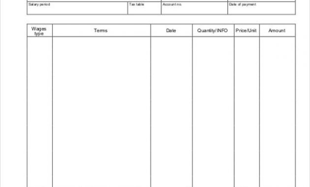 Image Result For Blank Pay Stub Template   Templates for Blank Pay Stubs Template