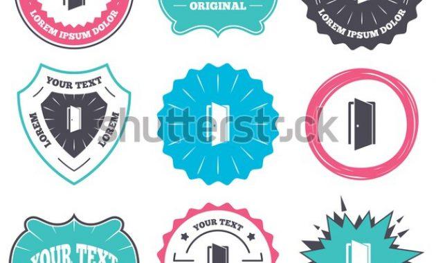 Label Badge Templates Door Sign Icon Stock-Vektorgrafik for Door Label Template
