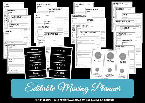 Moving Box Labels Printable Sticker Room Label Door Hanger With Door Label Template