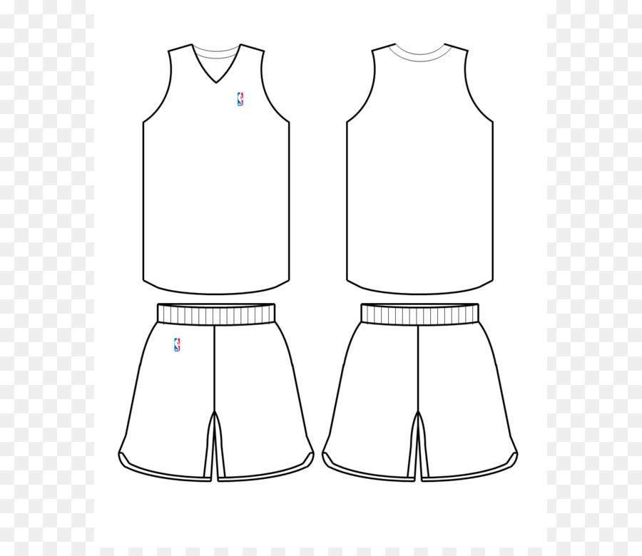 Nba-Vorlage Basketball Uniform Jersey - Jersey-Vorlage Png in Blank Basketball Uniform Template