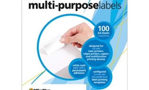 Officemax Premium Multi Purpose Labels 63.5X38.1Mm L7160 White 21 Per Sheet Throughout Staples White Return Address Labels Template