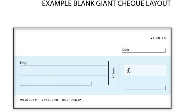 Oversized Cheque Template – Carlynstudio within Large Blank Cheque Template