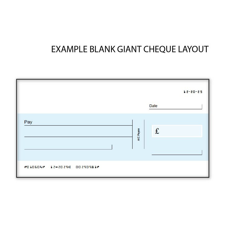 Oversized Cheque Template - Carlynstudio Within Large Blank Cheque Template