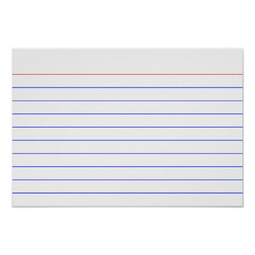Printable 5×7 Index Cards | Shop Fresh With 3X5 Blank Index Card Template