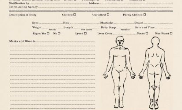 Propnomicon: Essex County Autopsy Report intended for Blank Autopsy Report Template