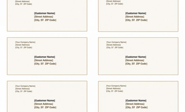Shipping Labels (Sienna Design, 10 Per Page, Works With with regard to 2X4 Label Template