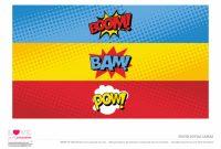 Superhero Party Free Printables Water Bottle Labels regarding Superhero Water Bottle Labels Template
