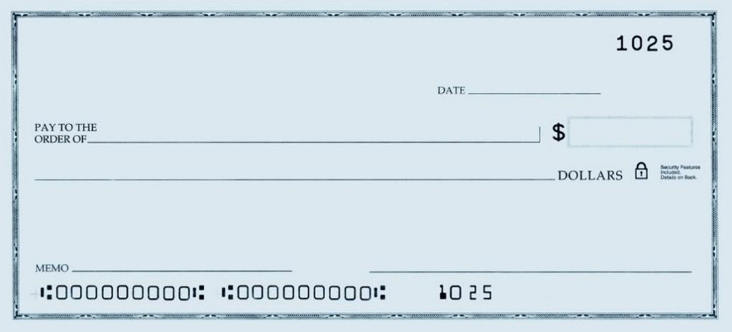 Template Of A Blank Check | Printable Personal Blank Check with regard to Large Blank Cheque Template