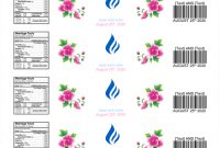 Water Bottle Label Template - Make Personalized Bottle Labels with Free Water Bottle Label Template Word