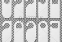 White Blank Hotel Vector & Photo (Free Trial) | Bigstock With Regard To Door Label Template