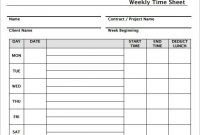 10 Best Photos Of Weekly Timesheet Template Free Download in Weekly Time Card Template Free