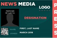 10 Best Press Reporter Id Card Templates | Microsoft Word Id intended for Media Id Card Templates