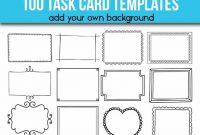 100 Task Card Templates Editable Flash Card Templates for Task Cards Template