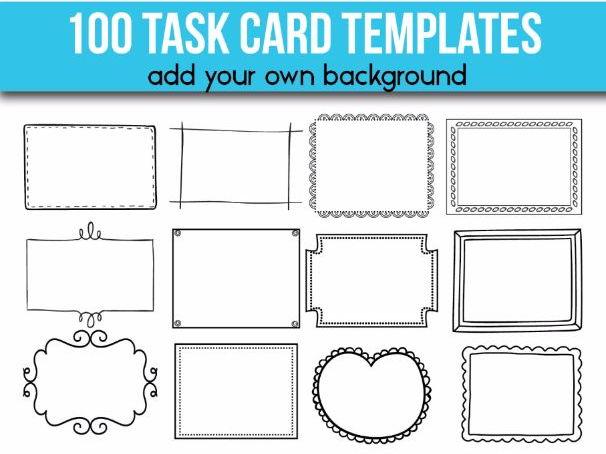 100 Task Card Templates Editable Flash Card Templates Pertaining To Task Card Template