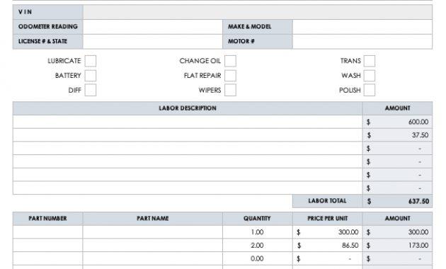15 Free Work Order Templates   Smartsheet inside Maintenance Job Card Template