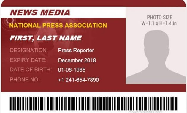 19+ Id Card Templates For Badges – Word Excel Samples pertaining to Media Id Card Templates