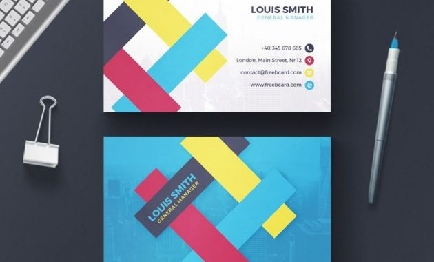 20 Professional Business Card Design Templates For Free intended for Professional Business Card Templates Free Download