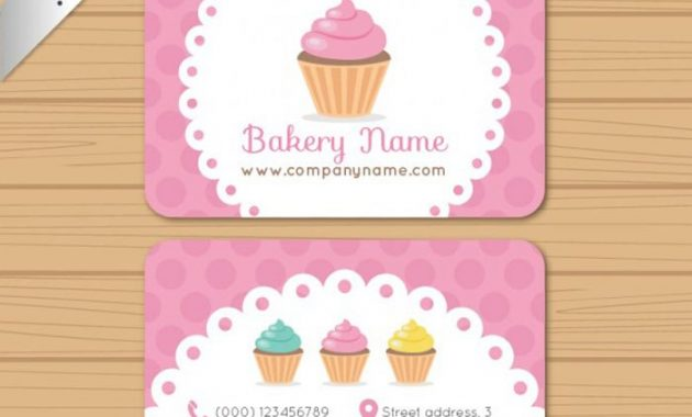 25 Free Pink Business Card Templates For Download regarding Cake Business Cards Templates Free