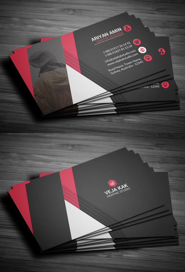 27 New Professional Business Card Psd Templates | Design Inside Professional Name Card Template