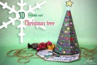3D Christmas Tree Card Printable | Alpha Mom Inside 3D Christmas Tree Card Template