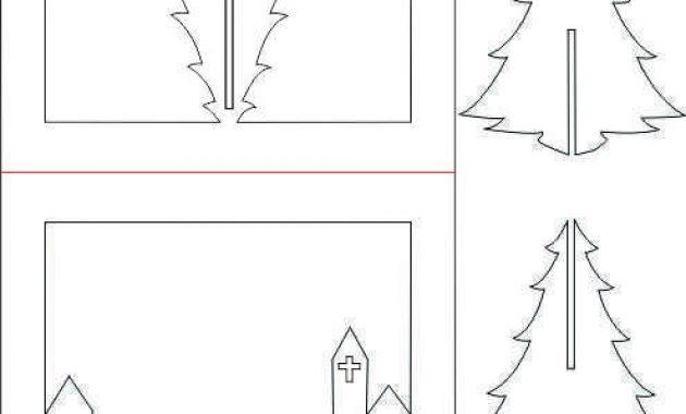 3D Christmas Tree Pop Up Card Tutorial | Pop Up Christmas intended for Pop Up Tree Card Template