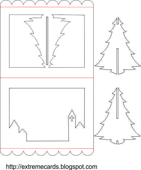 3D Christmas Tree Pop Up Card Tutorial | Pop Up Christmas With Regard To 3D Christmas Tree Card Template
