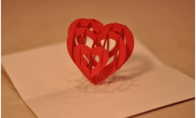 3D Heart Pop Up Card Template pertaining to 3D Heart Pop Up Card Template Pdf