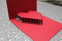3D Heart Valentine's Card – Free Template | Heart Pop Up regarding 3D Heart Pop Up Card Template Pdf