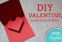 3D Heart Valentine's Card – Free Template | Valentines pertaining to 3D Heart Pop Up Card Template Pdf