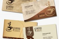 4 Business Card Templates For Coffee Shops | Grafis inside Coffee Business Card Template Free