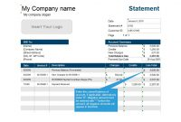 40 Billing Statement Templates [Medical, Legal, Itemized + More] in Credit Card Bill Template