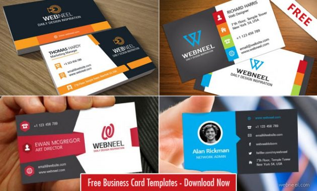 40 Professional Free Business Card Templates With Source throughout Free Bussiness Card Template