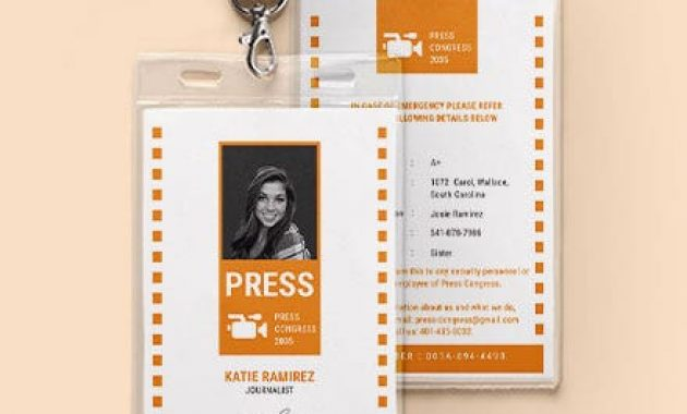 43+ Free Id Card Templates – Word (Doc) | Psd | Indesign with regard to Media Id Card Templates