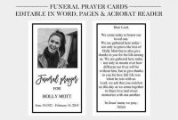 48 The Best Funeral Prayer Card Template For Word Maker For regarding Prayer Card Template For Word
