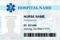 5 Professional Nursing Id Cards For Ms Word | Microsoft Word within Hospital Id Card Template