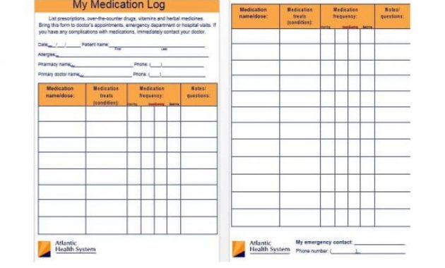 58 Medication List Templates For Any Patient [Word, Excel, Pdf] regarding Medication Card Template