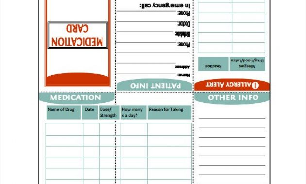 7+ Medication Card Templates – Doc, Pdf | Free & Premium with Medication Card Template