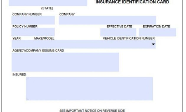 8 Blank Drivers License Template   Id Card Template, Card In Proof Of Insurance Card Template